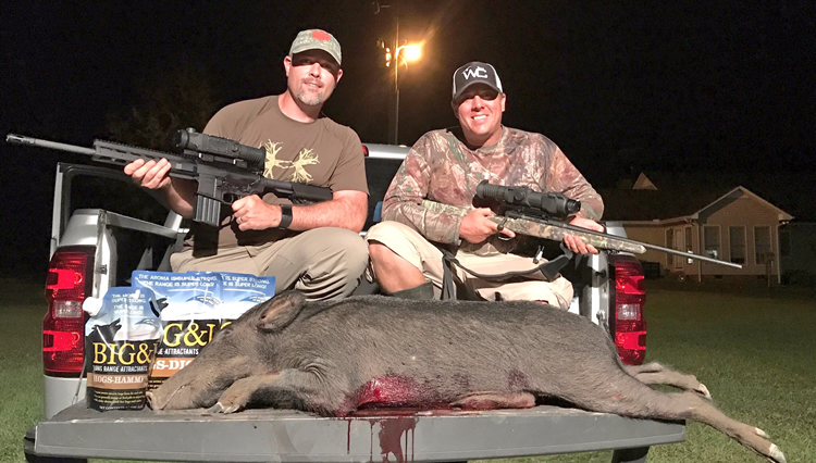 Clint Patterson and Gavin Jackson with South Carolina Nuisance Hog