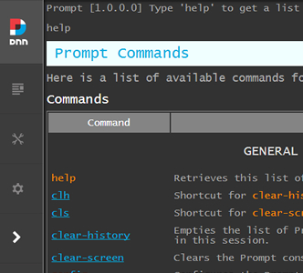 DNN Prompt: Making DNN Admins Power Admins via the Command Line