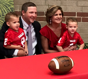 Central High School Head Football Coach Trent Usher and Family