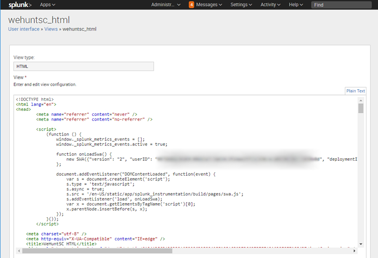 Splunk's Convert panel to HTML feature