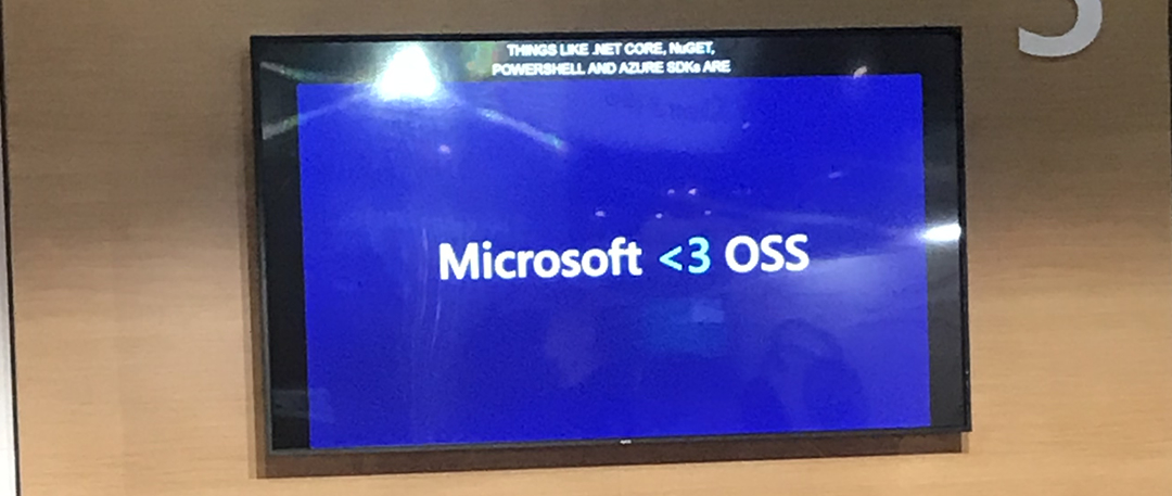 MSFT Loves OSS on a TV at Microsoft Build 2018