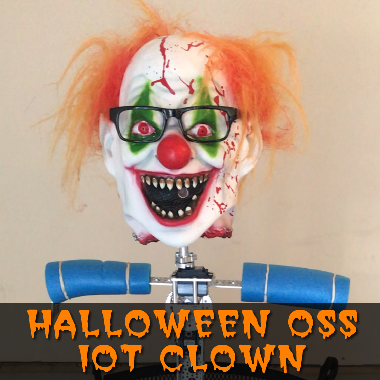2018 Halloween IOT Clown Brought to you by Particle, DNN, and Open Source!