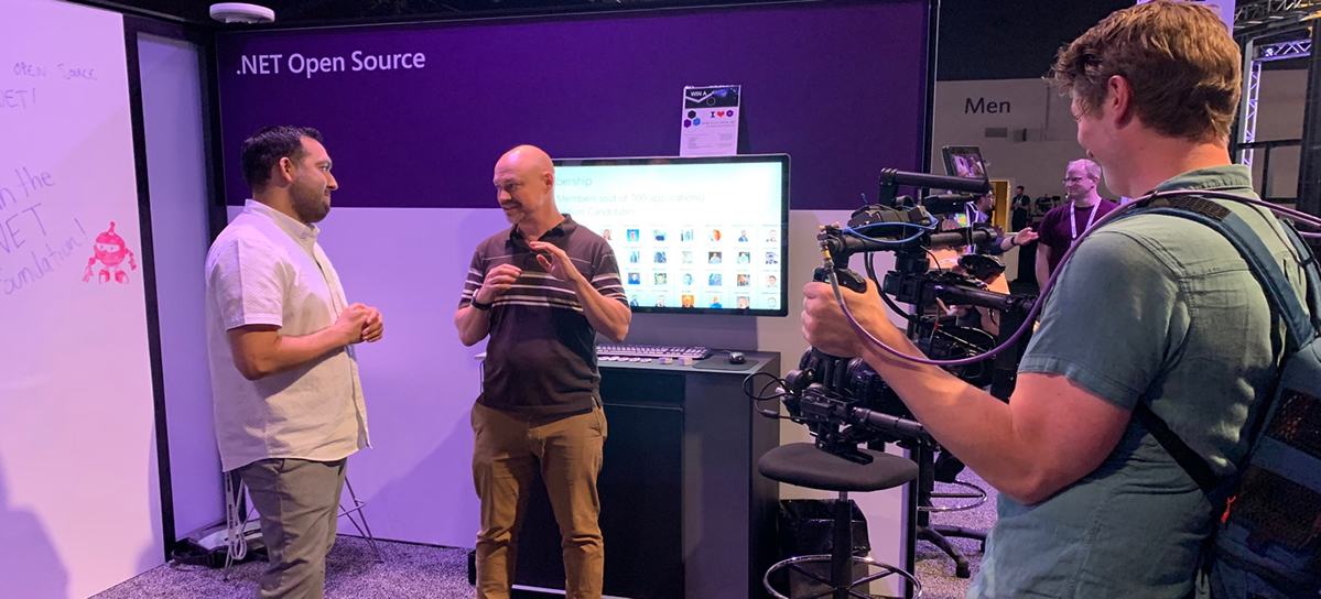 Jon Galloway at the .NET Open Source Booth at MS Build 2019