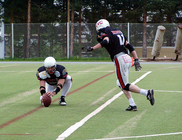Another shot of me holding for the extra point
