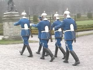 These guards walk in circles around the castle