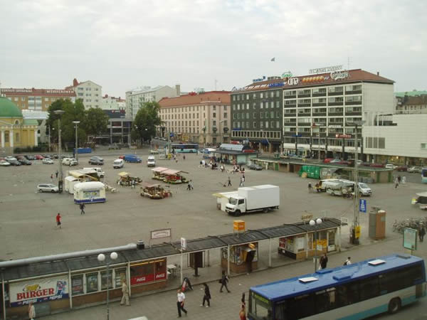 The square in downtown Turku